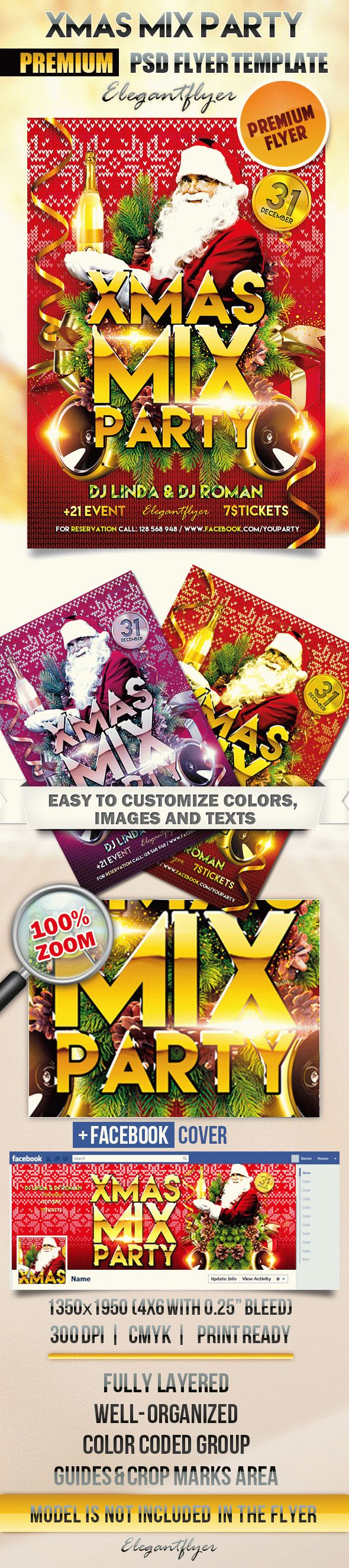 XMAS Mix Party – Flyer PSD Template