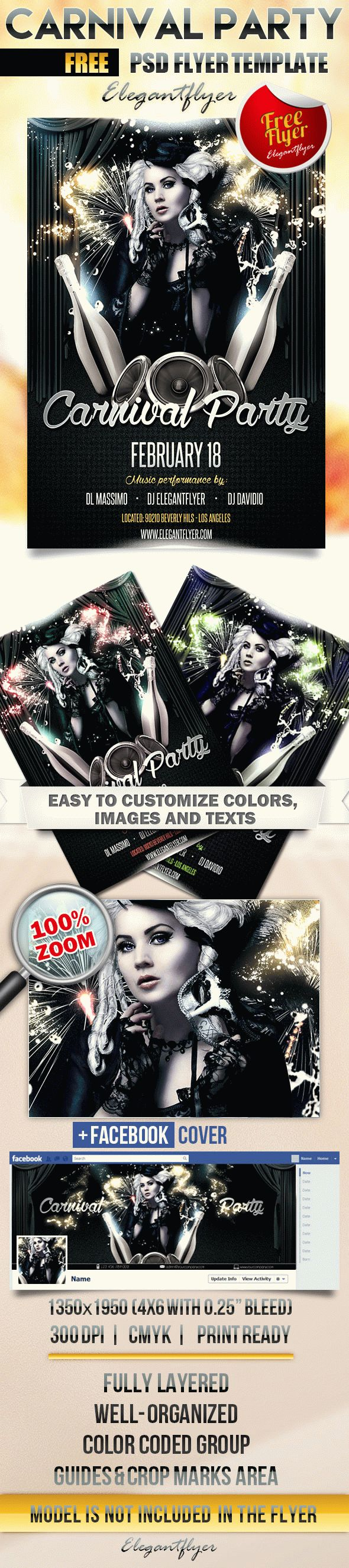 Carnival Party – Free Flyer PSD Template
