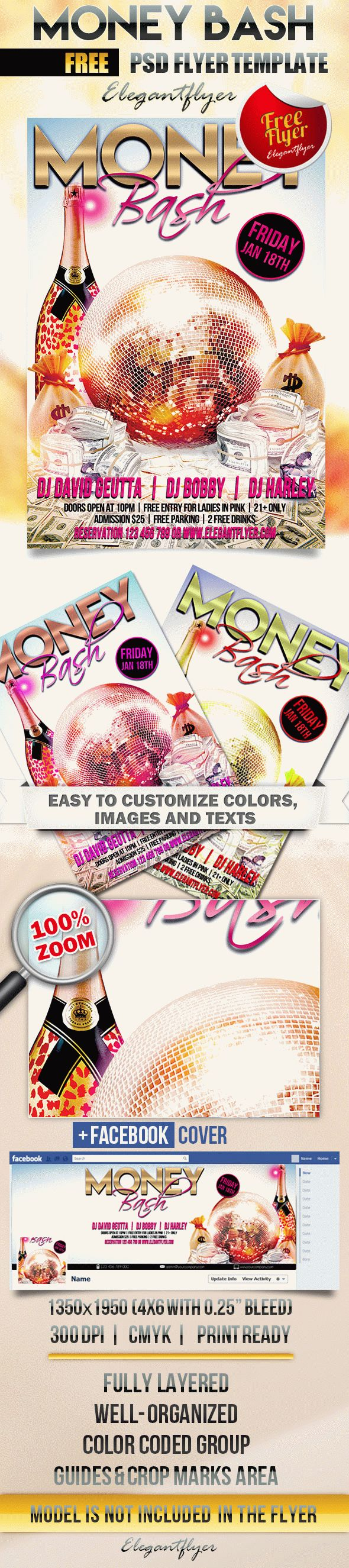 Money Bash – Free Flyer PSD Template