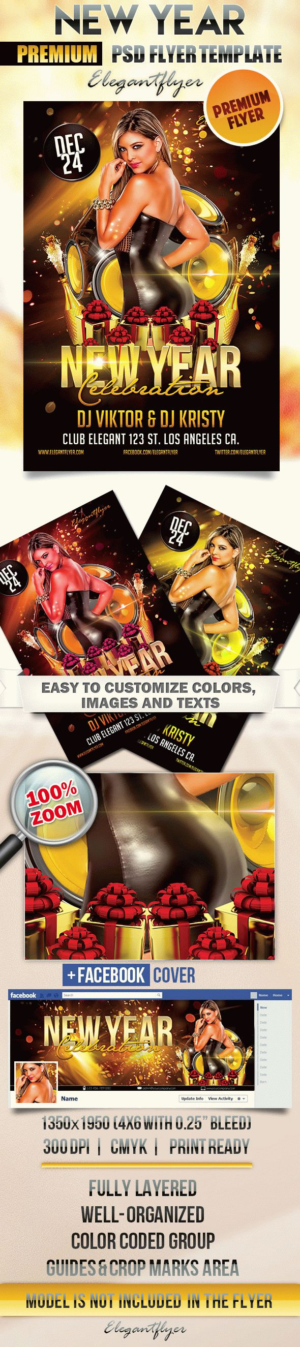 New Year Celebration – Flyer PSD Template