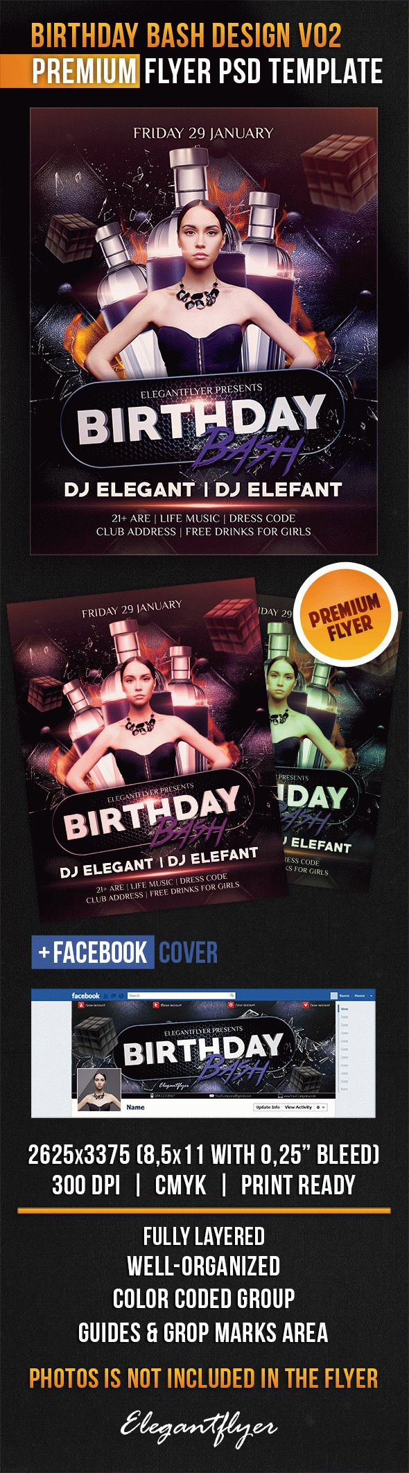 Birthday Bash Design V02 – Flyer PSD Template