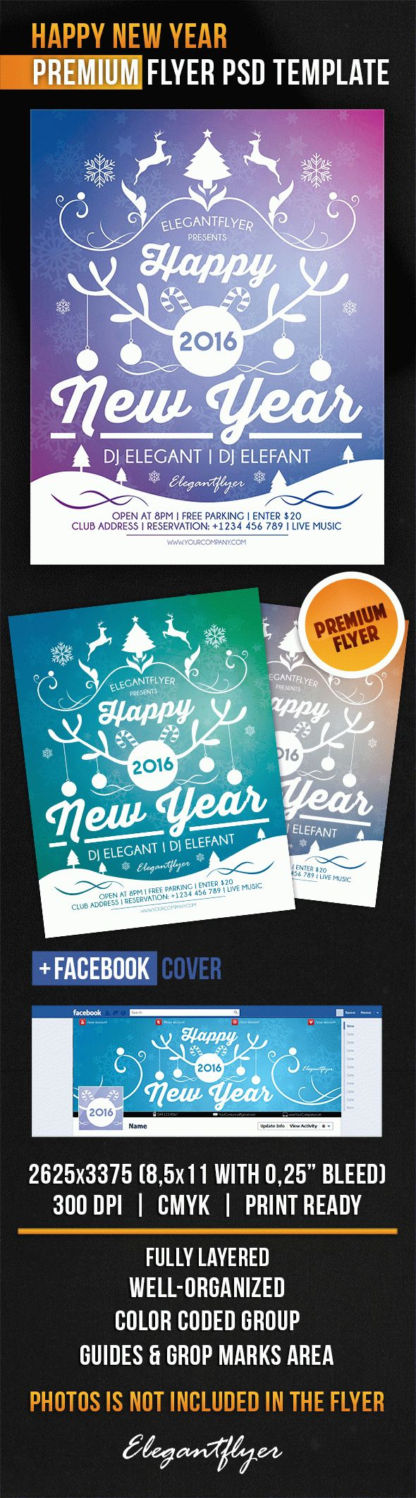Happy New Year – Flyer PSD Template