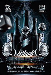 Black Energy – Flyer PSD Template