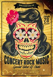 Smallpreview-Concert_Rock_Music-flyer-psd-template-facebook-cover