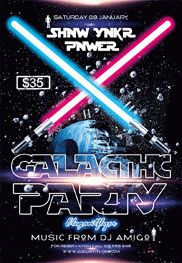 Galactic Party V02 – Flyer PSD Template