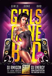 Girls Gone Bad – Flyer PSD Template