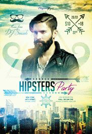 Smallpreview-Hipsters_Party_V3-flyer-psd-template-facebook-cover