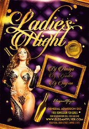 Ladies Night Party – Flyer PSD Template + Facebook Cover