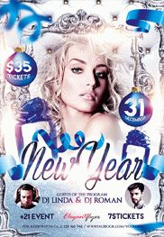 New Year V2 – Flyer PSD Template