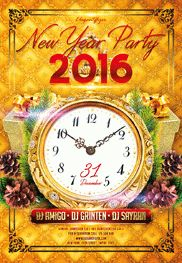 New Year Party V3 – Flyer PSD Template