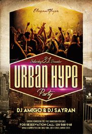 Urban Hype – Flyer PSD Template