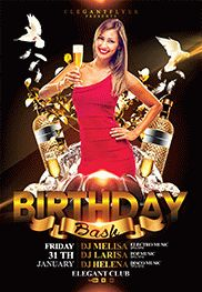 Birthday Party – Free Flyer PSD Template + Facebook Cover