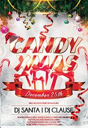 Flyer for Candy Christmas Party