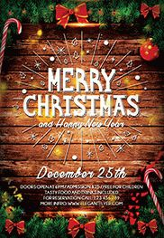 Merry Christmas V02 – Flyer PSD Template + Facebook Cover