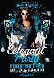 Classy Night – Flyer PSD Template + Facebook Cover