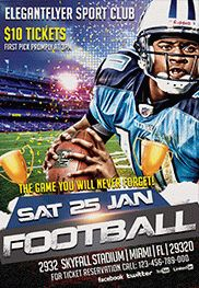 Football – Free Flyer PSD Template + Facebook Cover