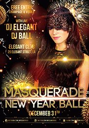 Masquerade Ball – Flyer PSD Template