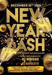 New Year Bash Poster Template