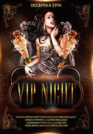 Vip Night – Flyer PSD Template