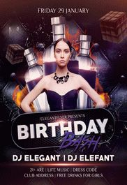 Birthday Party – Flyer PSD Template + Facebook Cover