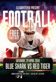 Football Game – Flyer PSD Template + Facebook Cover