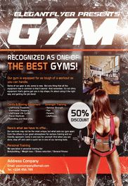Gym – Flyer PSD Template
