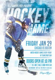 Hockey – Flyer PSD Template – by ElegantFlyer