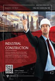 Industrial Construction – Flyer PSD Template