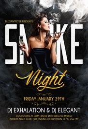 Smoke Night – Flyer PSD Template