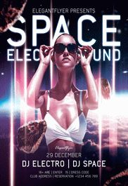 Space Electro Sound – Flyer PSD Template