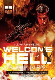 The Hell – Flyer PSD Template