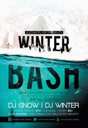 Winter Bash Poster Printable