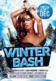 Flyer for Winter Bash Theme
