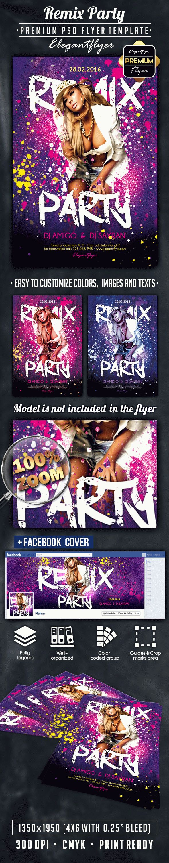 Remix Party – Flyer PSD Template