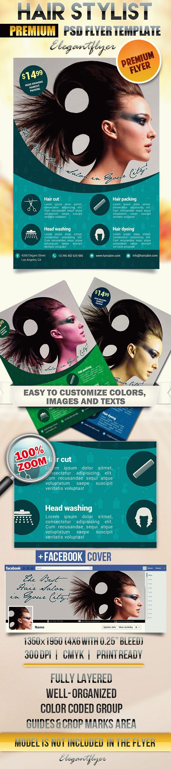 Hair Stylist – Flyer PSD Template