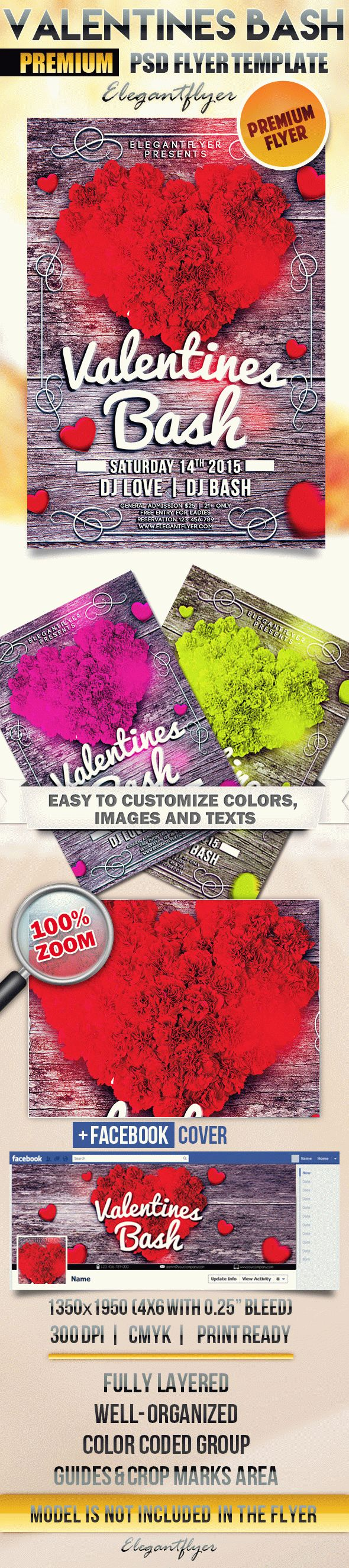 Valentines Bash – Flyer PSD Template