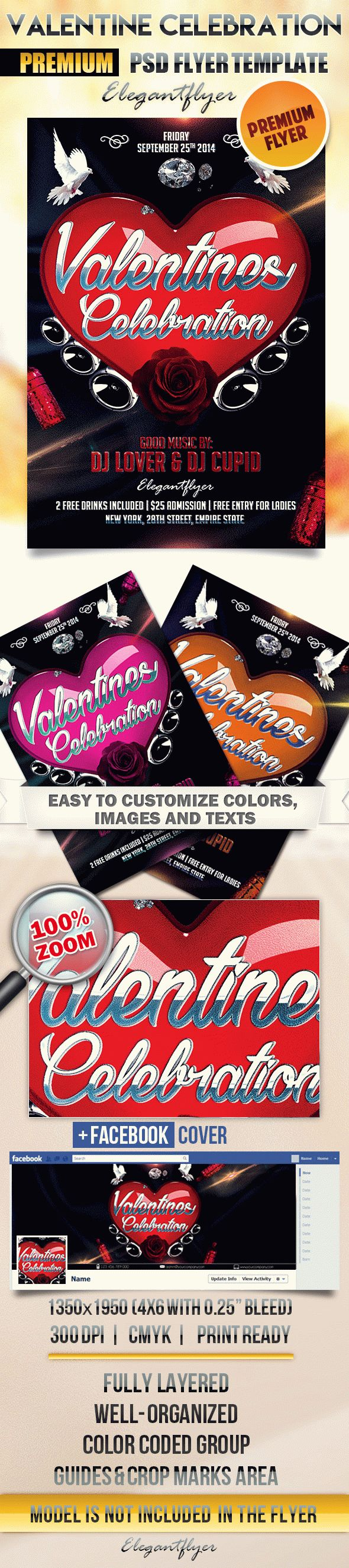 Valentine Celebration – Flyer PSD Template