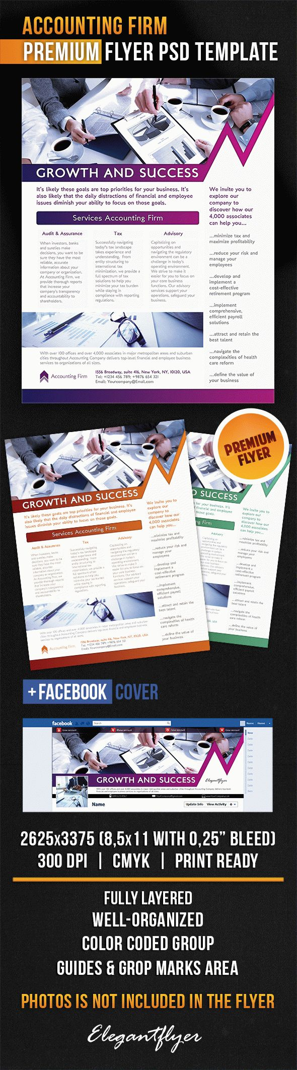 Accounting Firm – Flyer PSD Template
