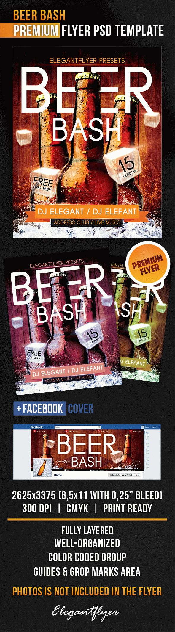 Beer Bash – Flyer PSD Template + Facebook Cover