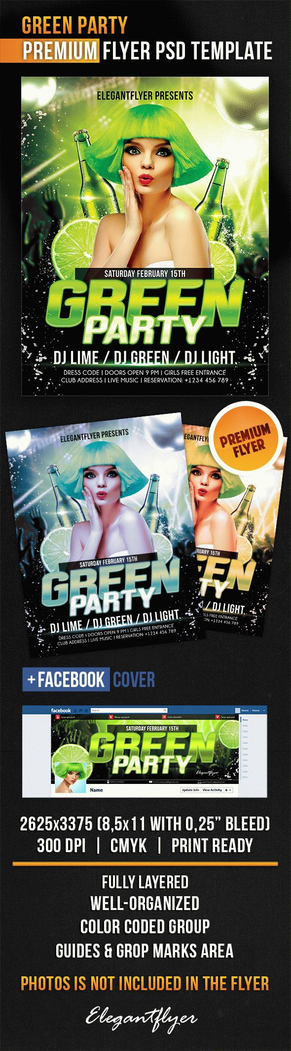 Green Wigs Party City Template