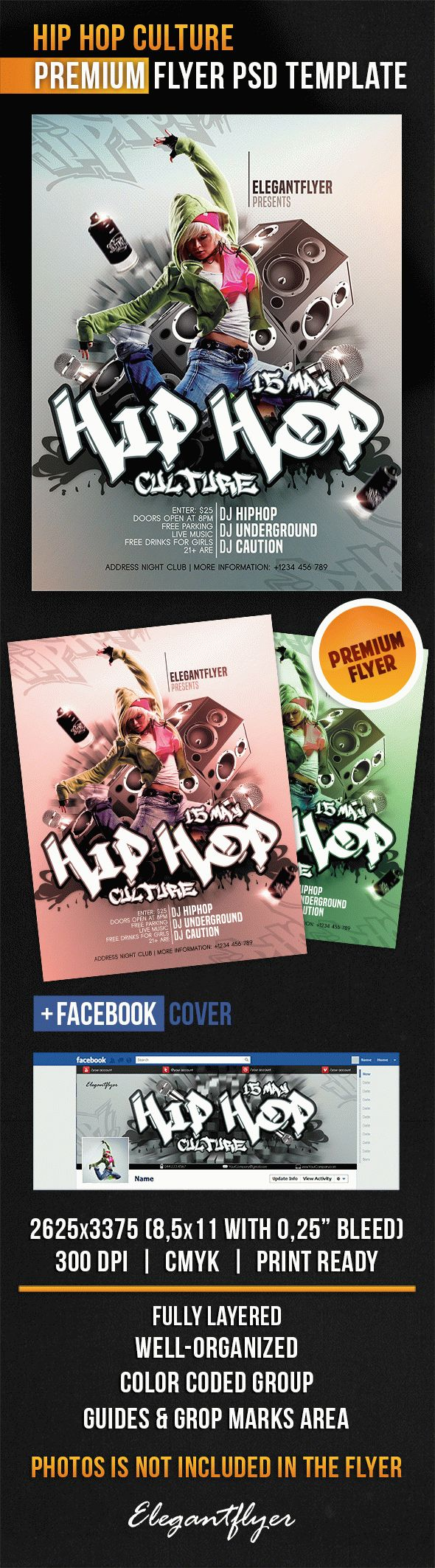 Hip Hop Culture – Flyer PSD Template
