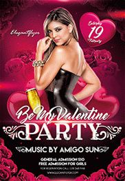 Be My Valentine Party V02 – Flyer PSD Template