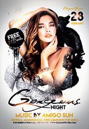 Sexy Night Party – Flyer PSD Template + Facebook Cover