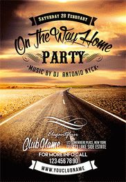 On The Way Home Party – Flyer PSD Template