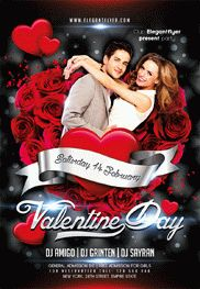Valentine Day Party – Flyer PSD Template