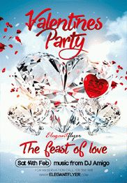 Valentine's Day Party – Free Flyer PSD Template + Facebook Cover