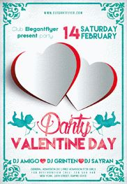 Valentine's day Party V02 -Flyer PSD Template