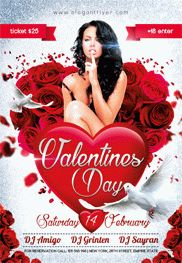Valentines Day Party V02 – Flyer PSD Template