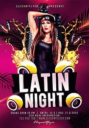 Latin Night – Flyer PSD Template + Facebook Cover
