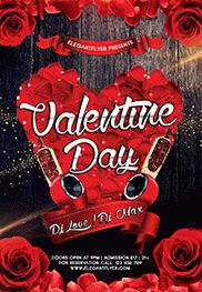 Gold Class Valentines Night PSD Template